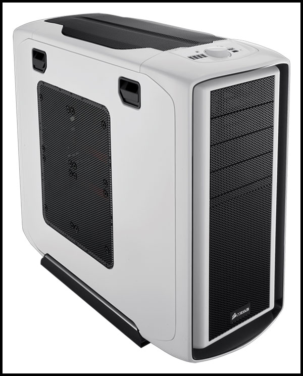 Corsair White Graphite Series 600T Mid Tower Case